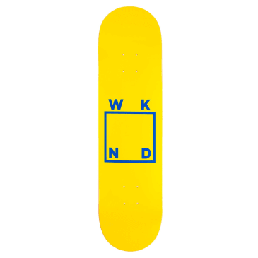 WKND Logo Yellow Skateboard Deck - 8""