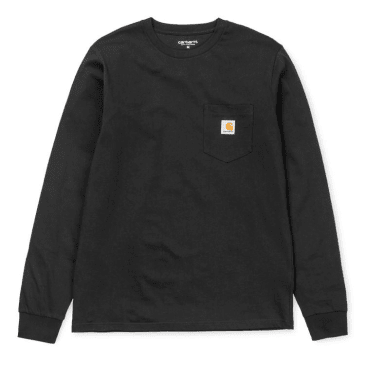 Carhartt WIP Long Sleeve Pocket T-shirt - Black