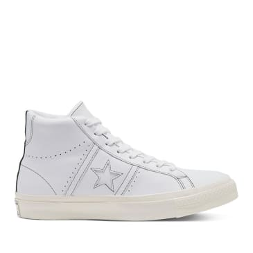 Converse CONS One Star Academy Pro High Top Shoes - White / Fir / Egret