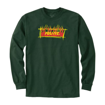 Politic Flame Box Logo Long Sleeve (Green)