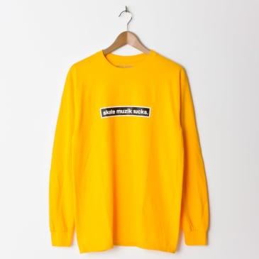 Skate Muzik Sucks Long Sleeve T-Shirt - Yellow