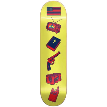 BLIND AMERICAN ICON DECK YELLOW 8.0""