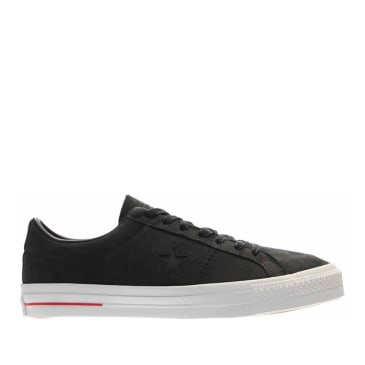 Converse CONS One Star Pro Ox Shoes - Black / White / Red