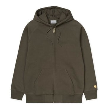 Carhartt WIP Hooded Chase Jacket - Cypress/Gold