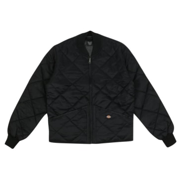 Quilted Nylon Jacket - Black