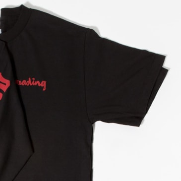 Chocolate Skateboards Reading C.T.W. T-Shirt - Black / Red