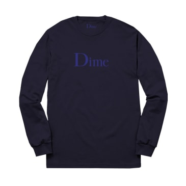 DIME CLASSIC LOGO L/S TEE - NAVY
