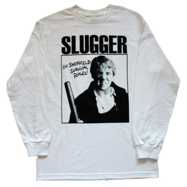 Slugger Survival Rules Long Sleeve T-Shirt White