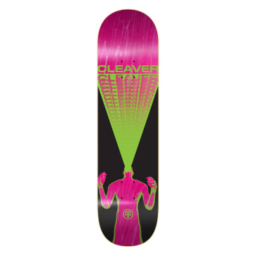 """Cleaver Skateboards - 8.125"""" Scream Deck - Green (Assorted Stains)"""