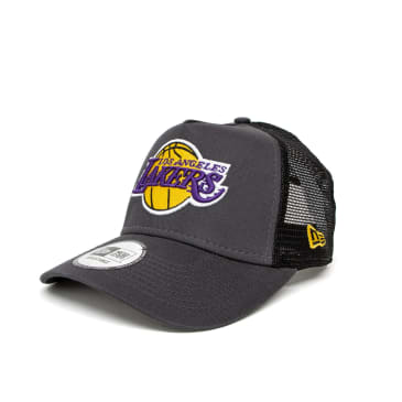 New Era Los Angeles Lakers Dark Base A-Frame Trucker Cap - Grey