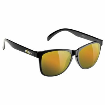 Glassy Deric Polarized Matte Black/Gold Mirror