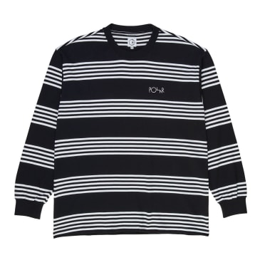Polar Skate Co. Striped Longsleeve T-Shirt Black