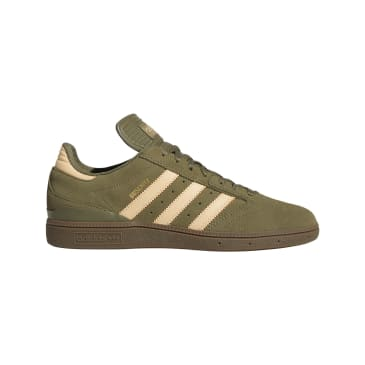Adidas Busenitz Pro Skateboarding Shoes - Raw Khaki/Glow Orange/FTWR White