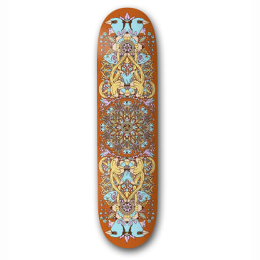 "The Drawing Boards - 8.0"" Mandala Skateboard Deck (Orange)"