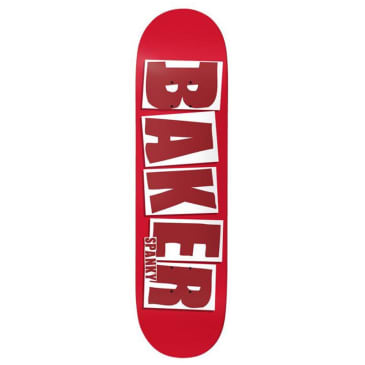 Baker Skateboards Spanky Brand Name Red Skateboard Deck - 8.25