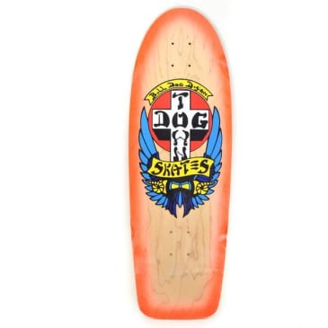 Dogtown OG Bull Dog Rider Skateboard Deck Yellow Stain /Orange Fade - 10.00 x 30.00
