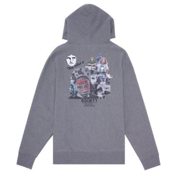 Fucking Awesome Society Hoodie - Heather Grey