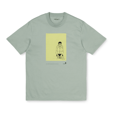 Carhartt WIP S/S 1999 Ad Evan Hecox T-Shirt - Frosted Green
