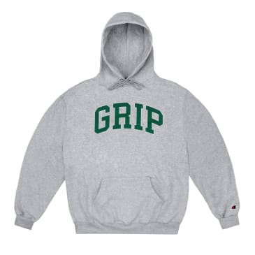 Classic Grip 'GRIP' Hood Heather Grey