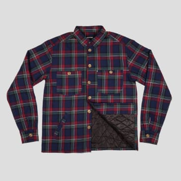 Pass~P0rt Late Quilted Flannel Jacket - Navy
