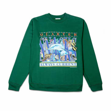 Quartersnacks Always Current Crewneck Sweatshirt - Green