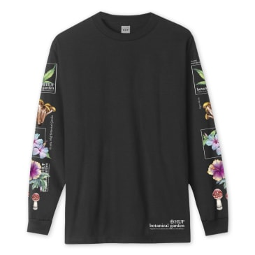 HUF Botanical Garden Long Sleeve T-Shirt - Black