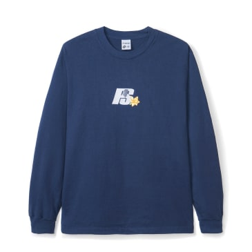Powers Flower Logo Long Sleeve T-Shirt - Blue