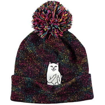 Rip N Dip Lord Nermal Pom Beanie - Black/Multi