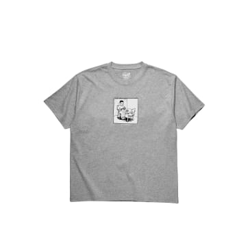 Polar Skate Co. - Spilled Milk T-Shirt - Heather Grey