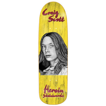 """Heroin Skateboards - Craig Questions Holly Deck 9"""" Wide"""