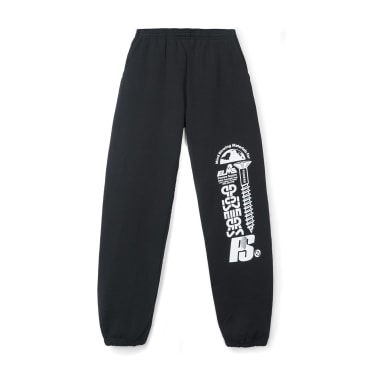 Powers Stacked Logo Sweatpants - Black