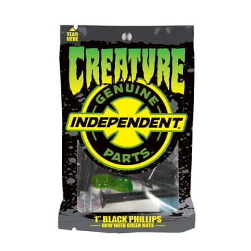 Creature CSFU Genuine Parts Phillips Hardware Black / Green 1""
