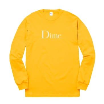 Dime Classic Logo Long Sleeve T-Shirt - Gold