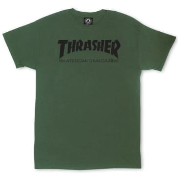 Thrasher Skate Mag T-Shirt Army Green