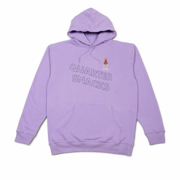 Quartersnacks Embroidered Snackman Hoodie - Lavender