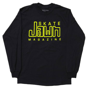 Skate Jawn Compact Jawn Long Sleeve T-Shirt - Black / Yellow