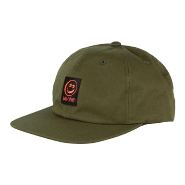 Welcome Skateboards Smiley Unstructured Snapback Hat - Olive