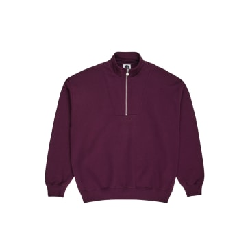 Polar Skate Co Zip Neck Sweatshirt Prune
