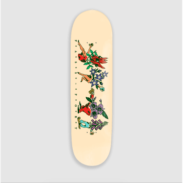 "Pass Port Skateboards - 8.25"" Floral Friends Vanilla Deck"