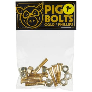 Pig Bolts Phillips bolts (set of 8) Gold