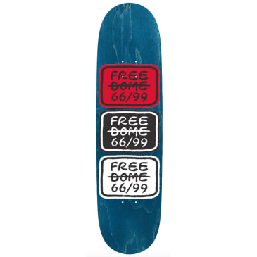 """Free Dome Skateboards - FREE DOME - Stacked Logo Deck - 8.5"""""""