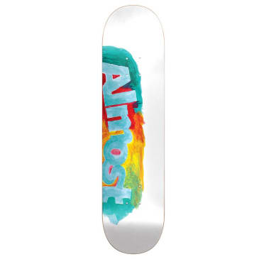 Almost Skateboards Side Smudge Resin Hybrid White Skateboard Deck - 8.00