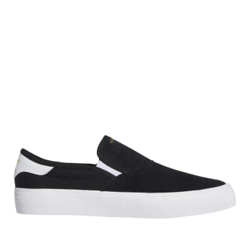 adidas Skateboarding Matchcourt Slip-On Shoes - Core Black / Cloud White / Gum 4