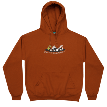 Frog Skateboards- Egg Break Pullover Hooded Sweatshirt - Burnt Orange