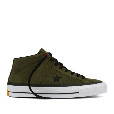 Converse CONS One Star Pro Mid Shoes - Herbal Green / Black / White