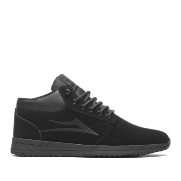 Lakai Griffin Mid All Weather Shoes - Black / Black / Nubuck