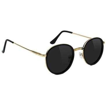 Glassy Lincoln Polarized Sunglasses - Black / Gold