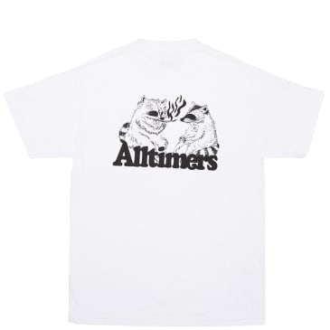 Alltimers Racoons Smoking Pot T-Shirt - White