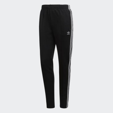 ADIDAS SUPERSTAR TRACK PANTS - BLACK WHITE