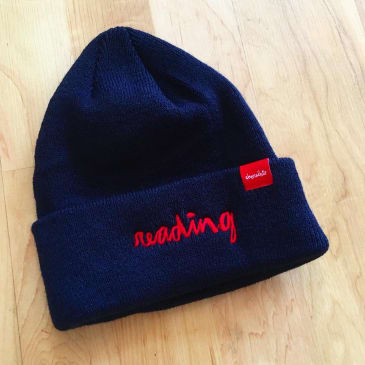 CHOCOLATE READING C.T.W. BEANIE - NAVY RED